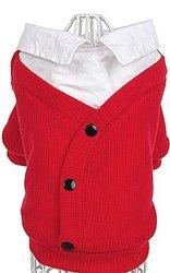 SCHOOL BOY SWEATER IN RED! Grab it:   #dogs #dogsweater #puppy #dogsoftwitter @PoshPuppy