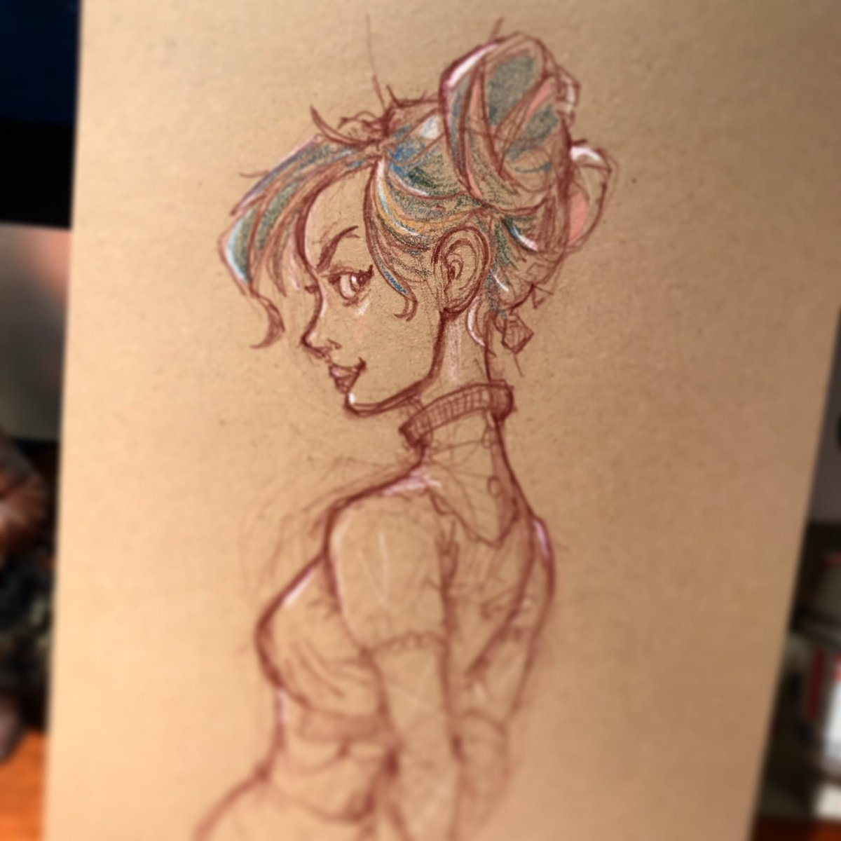 Sunday morning #sketch time #steampunk #victorian #profile #drawing #illustration #doodlebags #nashville #art<br>http://pic.twitter.com/rVgJeuoeoN