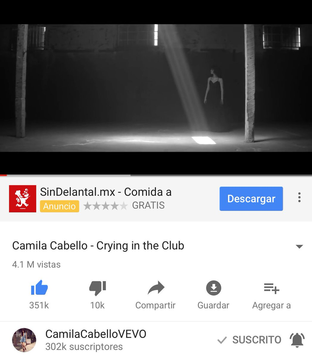 4.1 M de views and #10 trending ¡WHAT A MASTERPIECE! Let&#39;s go #CryingInTheClubMusicVideo <br>http://pic.twitter.com/WFFlmRaJVG