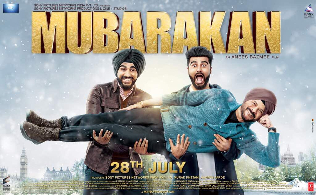 Mubarakan First Poster starring Anil Kapoor, Arjun Kapoor