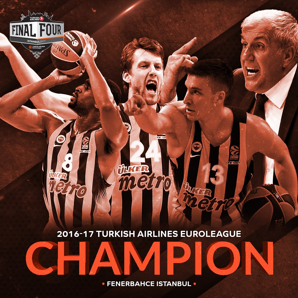 Crowned. 👑  For the first time, Fenerbahce is the EuroLeague champion. #F4GLORY