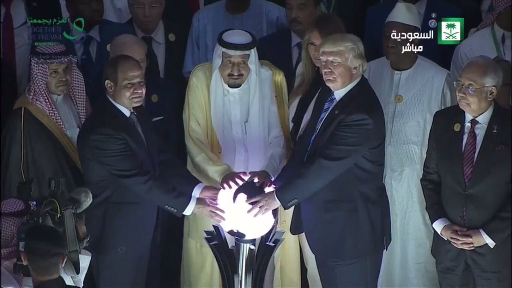Thumbnail for Internet responds to Trump touching orb
