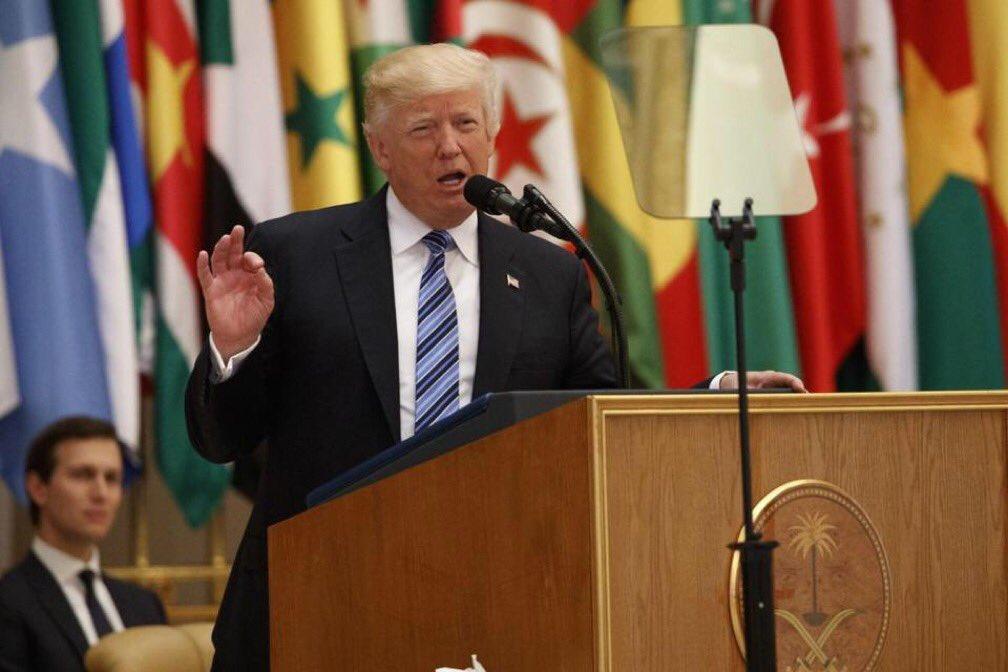God bless @realDonaldTrump! Our @POTUS! #MAGA #RiyadhSummit #TrumpInSaudi #TRUMP