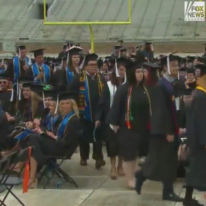 WATCH: Students Walk Out of @VP #MikePence's Graduation Speech at #NotreDame https://t.co/x9Ltma4K1J