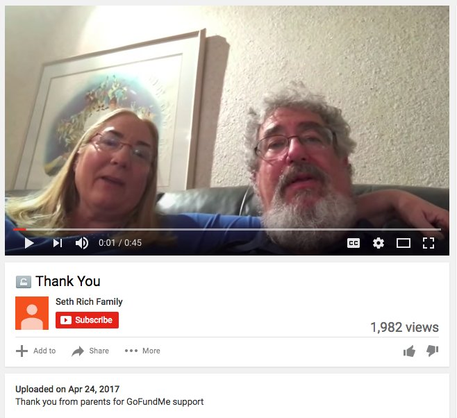 Hoaxers now claim that an april 24 video of rich's parents thanking