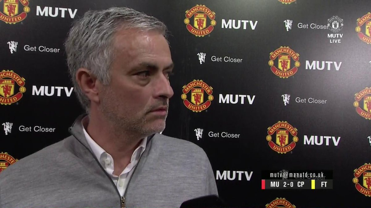 Jose's on his way to pack his suitcase for Stockholm! 😂🇸🇪 #MUFC https:...