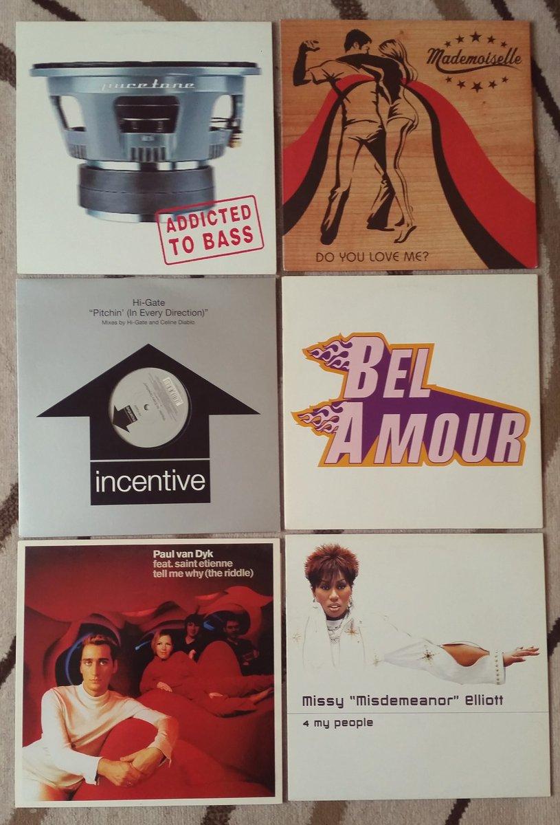 Some classic 12&quot; dance tracks!  #puretone #mademoiselle #higate #belamour #missyelliott #paulvandyke #saintetienne #recordfairfinds<br>http://pic.twitter.com/fLyKyLVdB7