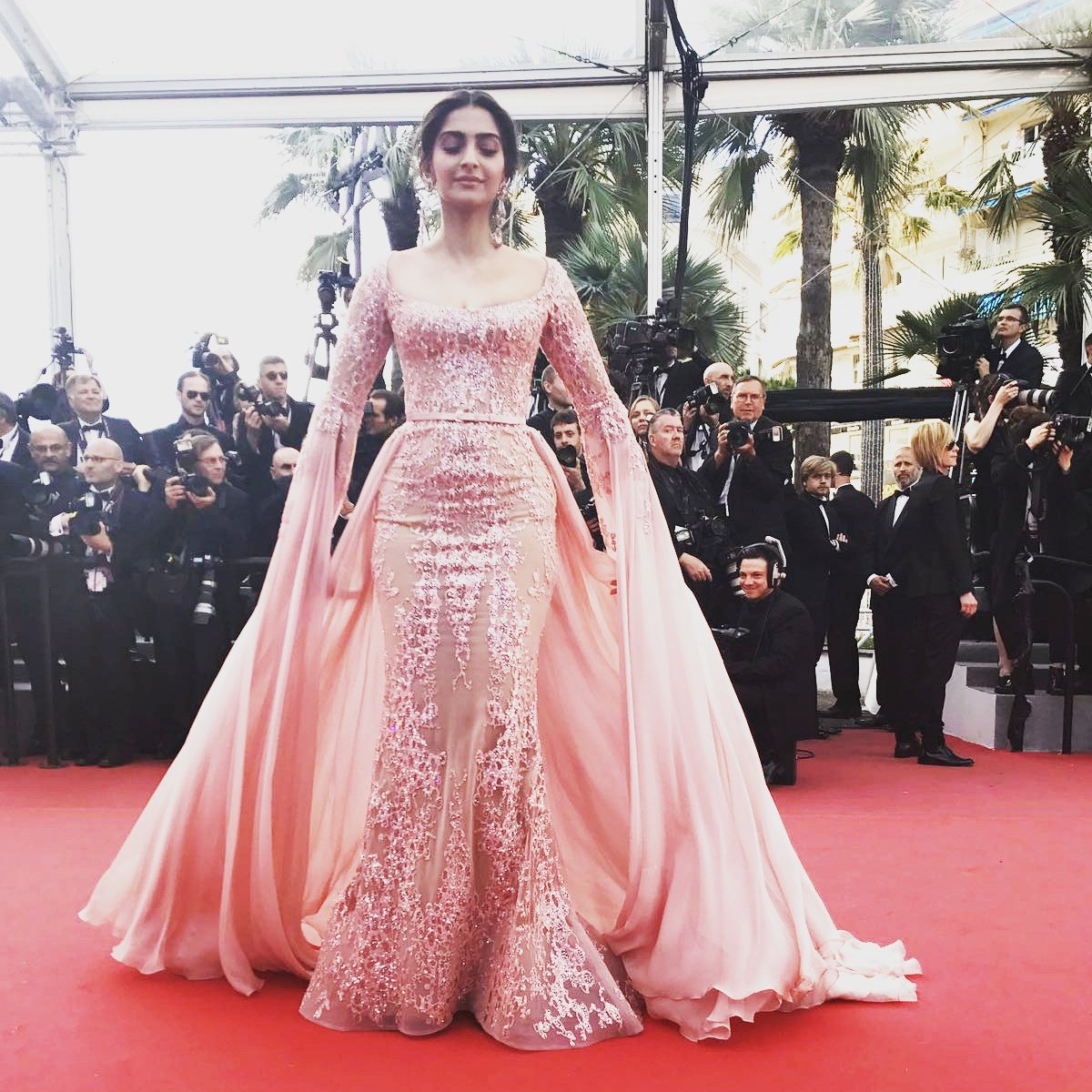 Image result for @sonamakapoor in a @HouseofMasaba dress and Loreal Makeup. #LifeAtCannes #SonamAtCannes