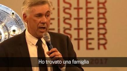VIDEO #Bayern #Ancelotti gets off with German: &quot;In Munich I found a family&quot;  http:// rosea.it/9011efa7cQ  &nbsp;  <br>http://pic.twitter.com/g2hThN50jR