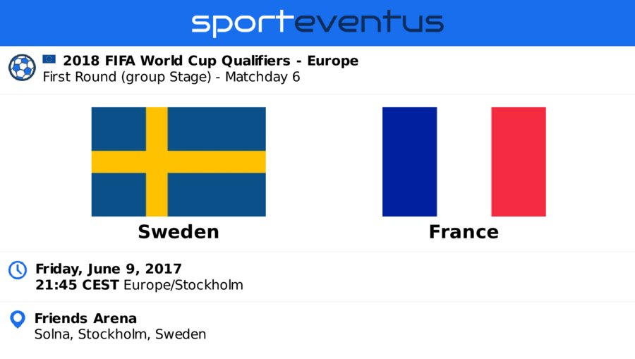 Compare #tickets &amp; buy in-app  #Sweden vs #equipedefrance #EuroQualifiers  June 9th 21:45 CEST  #friends_arena  http:// link.sporteventus.com/evtw?event_id= 100155 &nbsp; … <br>http://pic.twitter.com/fuKYUEBKcp
