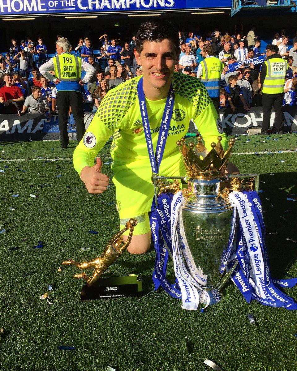 "Thibaut Courtois on Twitter ""Premier league champion Very happy"