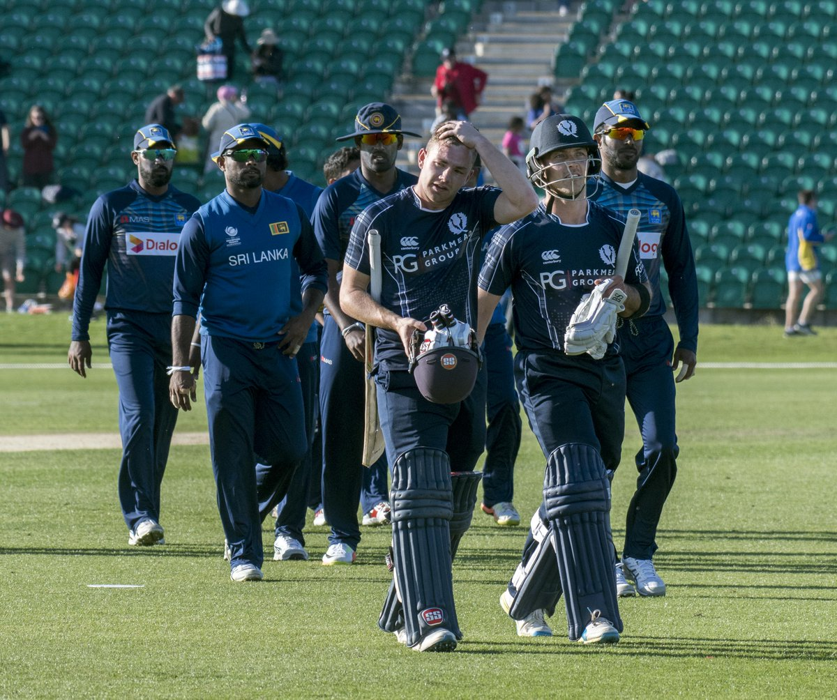 test Twitter Media - Scotland shock Sri Lanka in Kent! Centuries from Kyle Coetzer and Matthew Cross guide them to a brilliant 7 wicket victory! #ScovSL https://t.co/R4vSiXgsCG