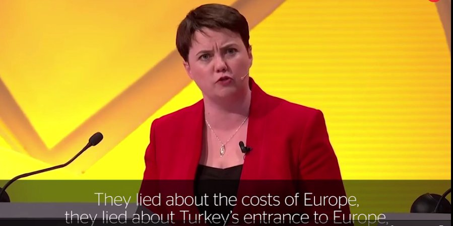 Ruth Davidson said the Brexiteers lied. Now she's a fully signed up extreme Brexiteer herself #LeadersDebate https://t.co/v5CmtqUDAU