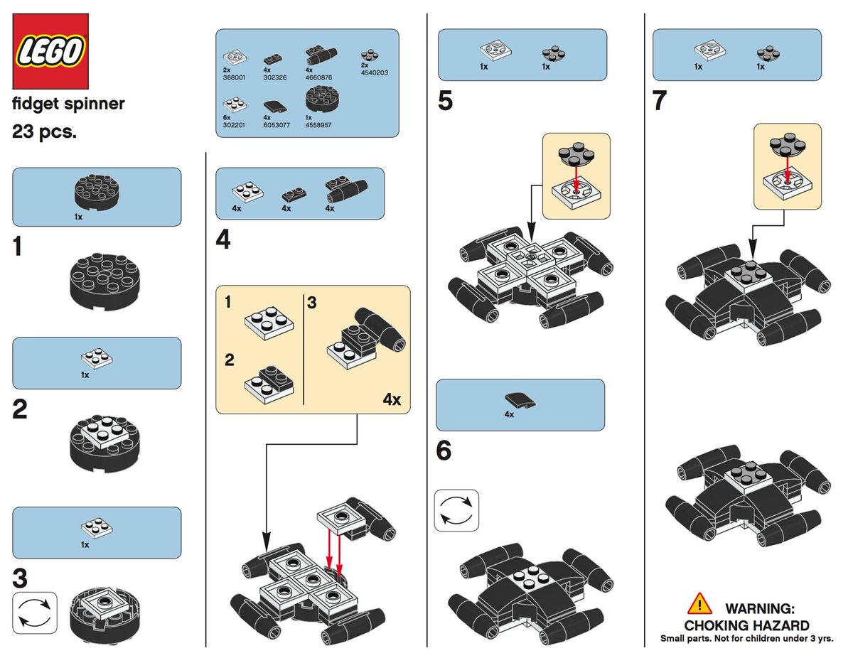 ontspecialneeds on twitter make your own lego fidget spinner