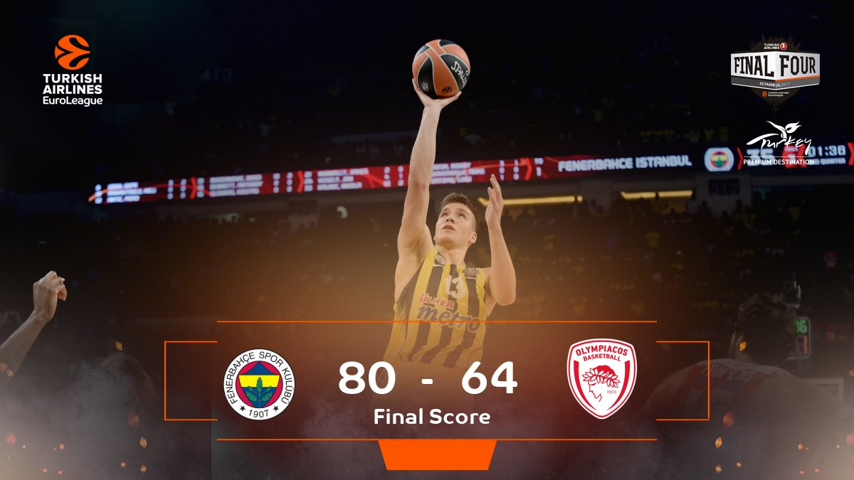 THE CHAMPS ARE HERE!  CONGRATS TO @FBBasketbol ON THEIR #F4GLORY WIN RIGHT HERE IN ISTANBUL!
