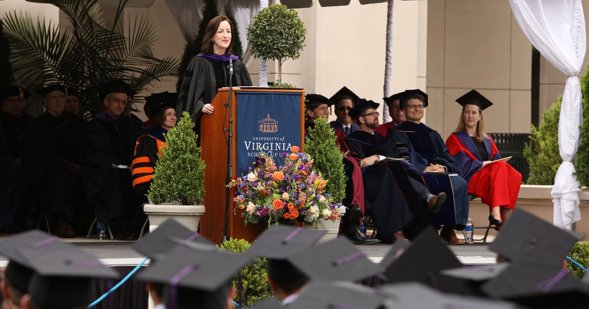 What should be in your briefcase for success? Commonfund CEO Catherine Keating '87 tells #UVALawGrad audience https://t.co/UYqBfr2wQR https://t.co/ObtGnfyygm