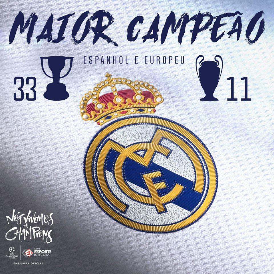 Rei da Europa: 11🏆 Rei da Espanha: 33 🏆  Prazer, @realmadrid!