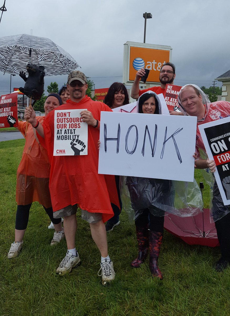 Local 4320 standing strong in the rain!...