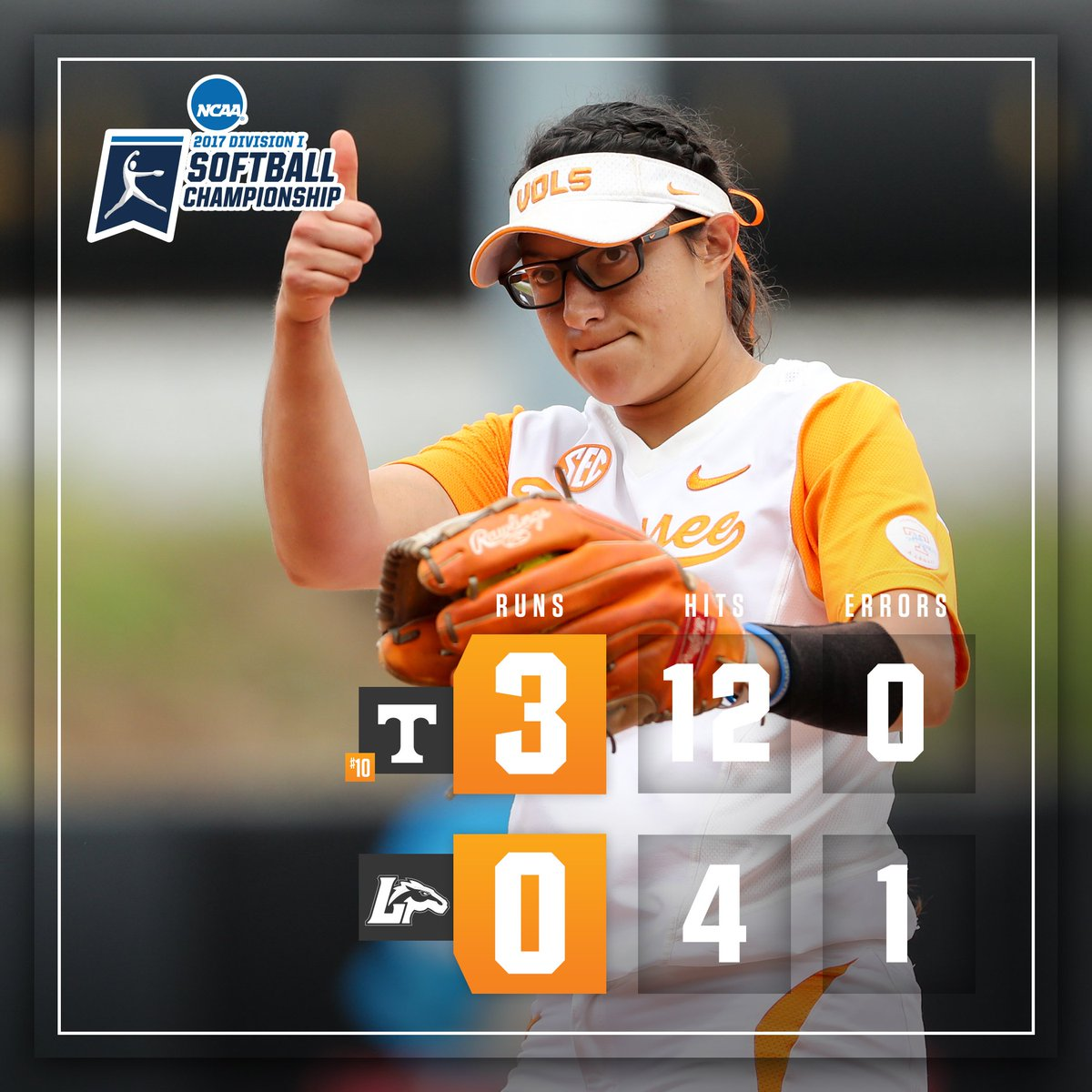 Tennessee is heading to the @NCAAsoftball Super Regionals for the fifth time in six years! #VolsWin https://t.co/5EMmDfplhr