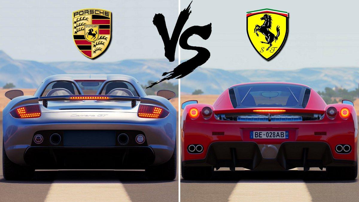 Dizeuul On Twitter Porsche Carrera Gt Vs Ferrari Enzo Https T Co Ngr25mizq7 Forzahorizon3 Carbattle Porsche Carreragt Ferrari Enzo Https T Co Cqtd8nqn4g