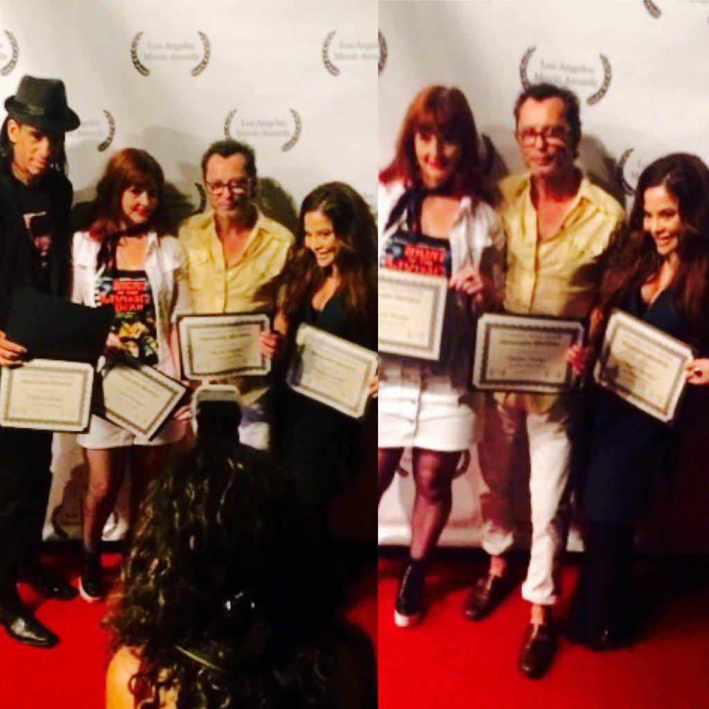 .@RickyDeanLogan @staciwilson @aaronkaiart & I #Redcarpet #PsychoTherapy #losangelesmovieawards #film #award 🙏🏆🎥❤️