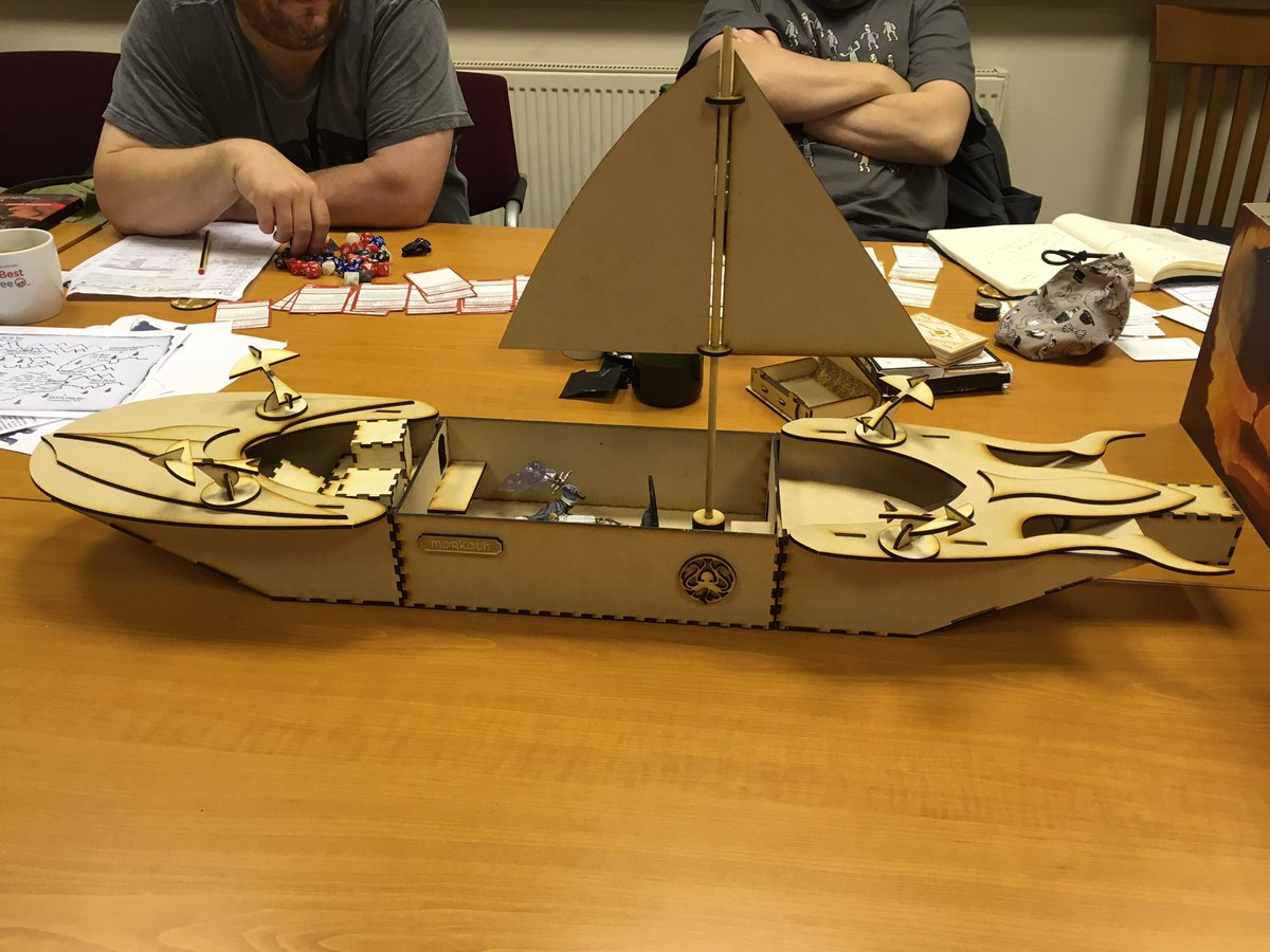 WOW! Our GM has out shined YET AGAIN! He&#39;s built the Morkoth too  Sea battle commences  #dnd Dungeons&amp;Dragons #D&amp;D #StormKingsThunder<br>http://pic.twitter.com/v7UpMeurCz