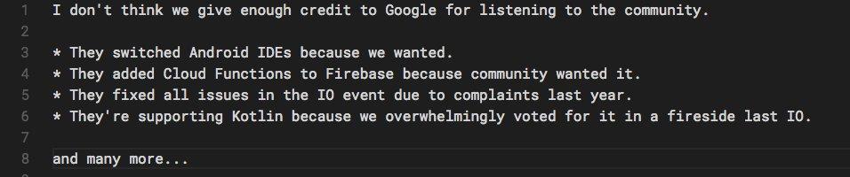 Thank you @googledevs for listening to the #AndroidDev community.    h/t @lehtimaeki&#39;s tweet   <br>http://pic.twitter.com/bsB2ZaACMf