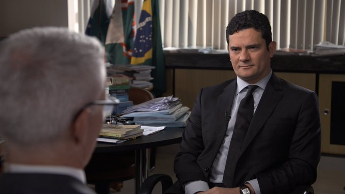 Judge Sergio Moro, who oversees Operation Car Wash, gives first TV interview to @andersoncooper on #60Minutes https://t.co/L5pDn2ss59