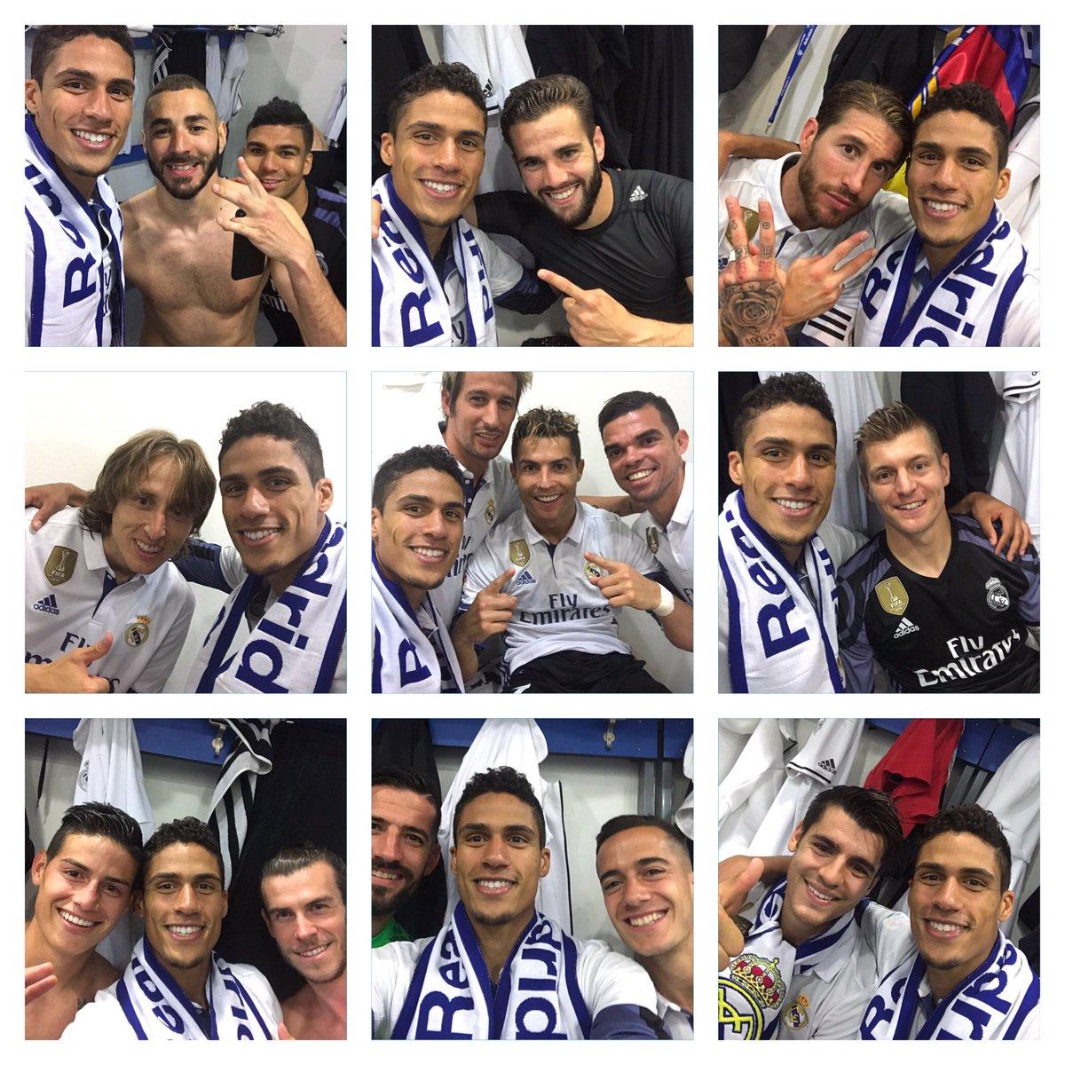 😄 Selfie Time 📸🔥 !!! #Champions 🇪🇸🏆⚽ #33Ligas #HalaMadrid @realmadrid
