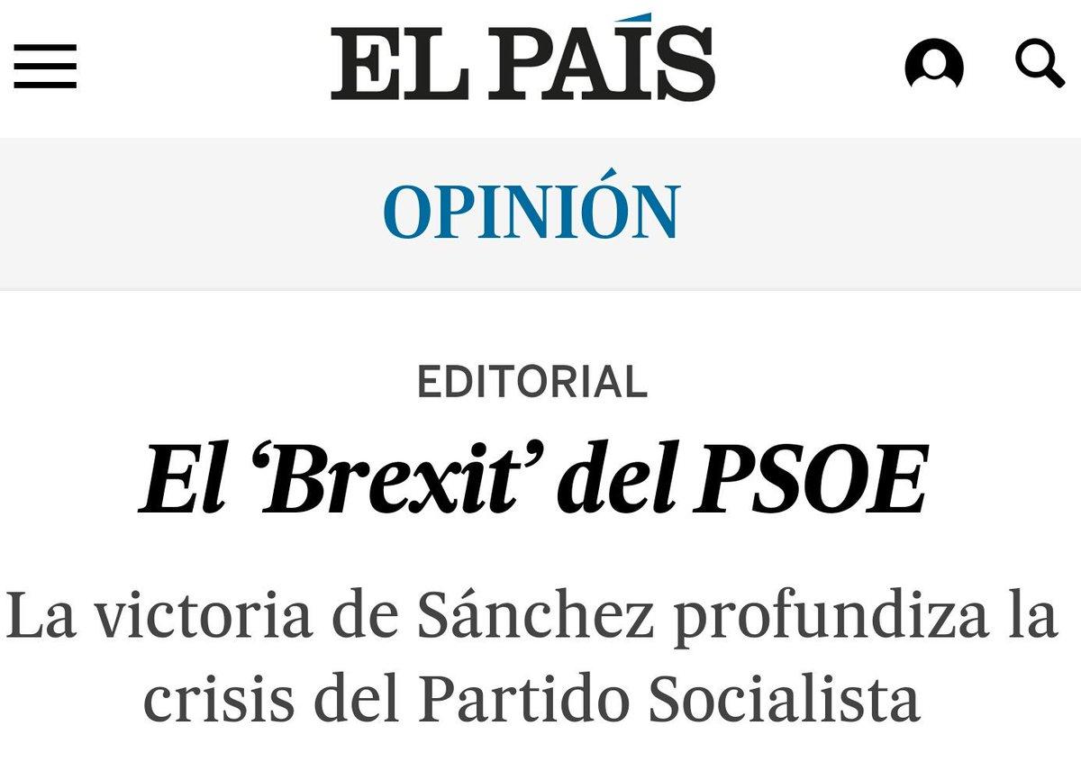Ha tardado poco El País en publicar su editorial