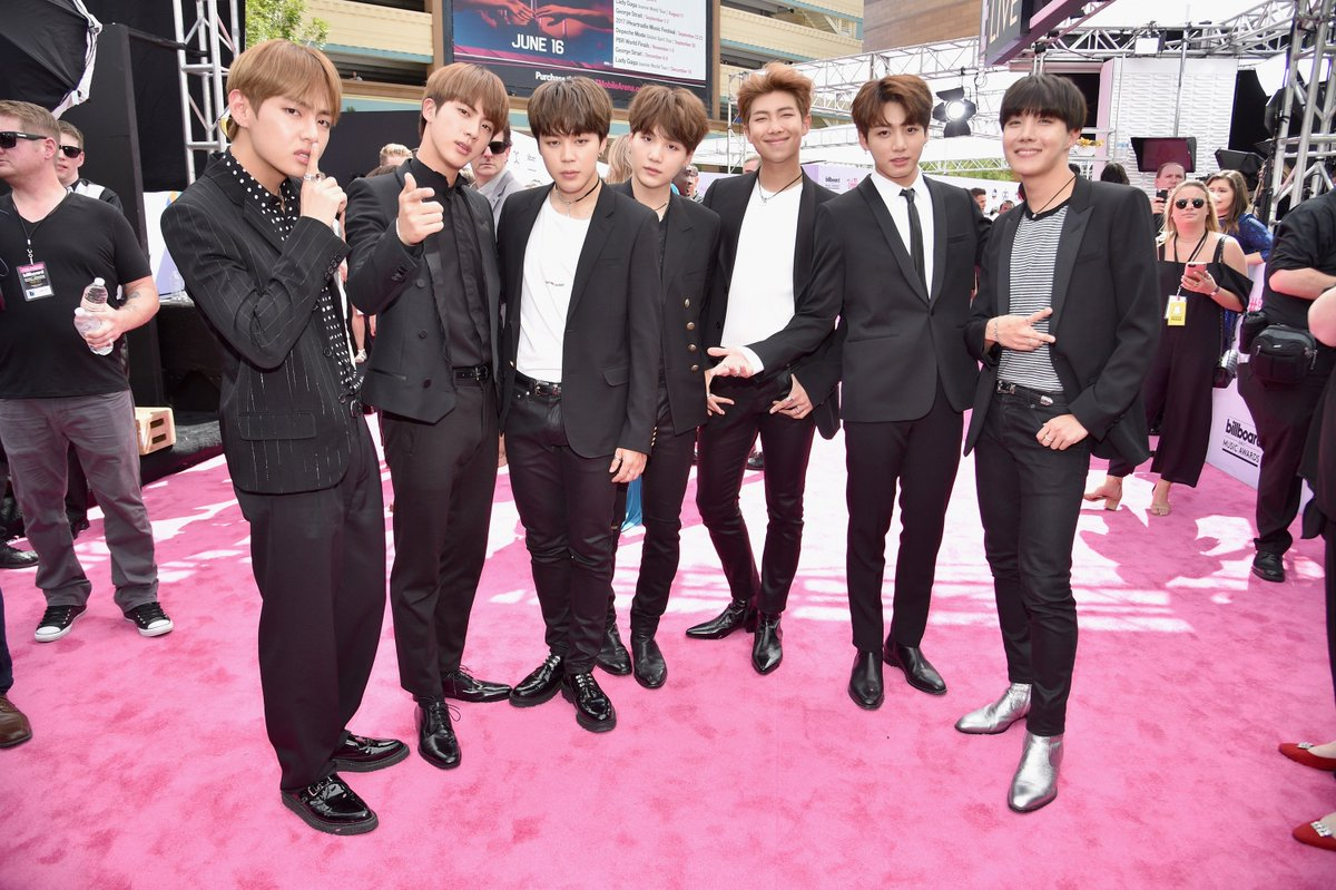 The boys of @BTS_twt are heating up the #BBMAs! Making K-Pop history as the first group to receive a nomination! 😍