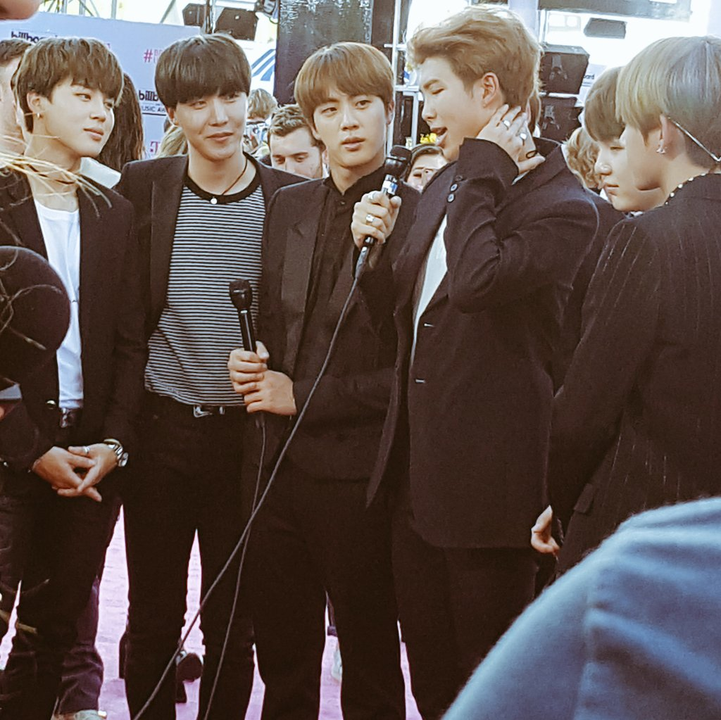 BTS is here - the first K-Pop group to attend the #BillboardMusicAwards