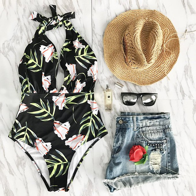 Cupshe Years Of Flowers One-piece Swimsuit