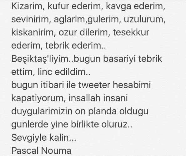 Fenerbahçe'yi tebrik eden Pascal Nouma,...