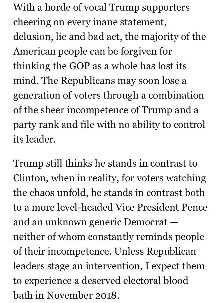 Conservative pundit Erick Erickson predicts an electoral disaster for the GOP in 2018. https://t.co/ZMaFUi5S6D