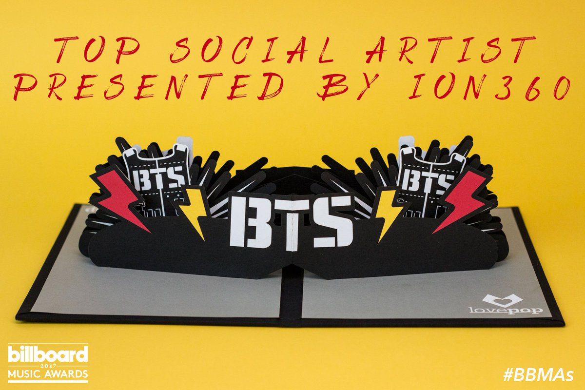 You posted. You tweeted. You voted.  Your #BBMAs Top Social Artist presented by @ION360 is @BTS_twt!