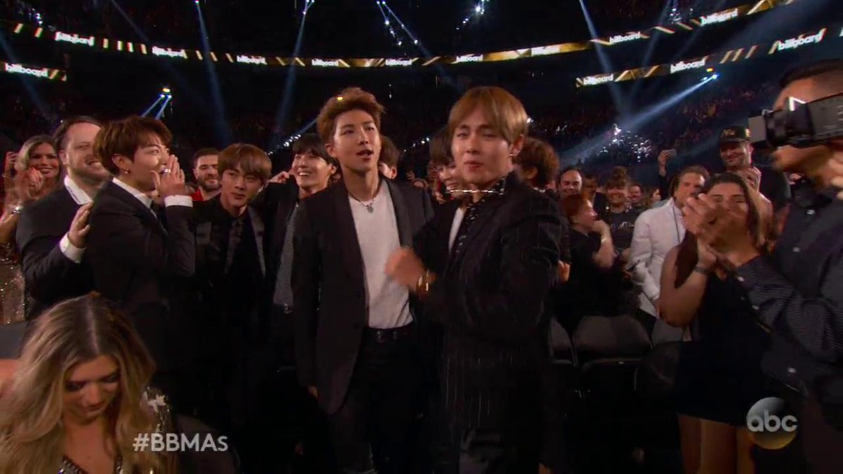 WATCH: The moment @BTS_twt won Top Social Artist at the @BBMAs. #BBMAs