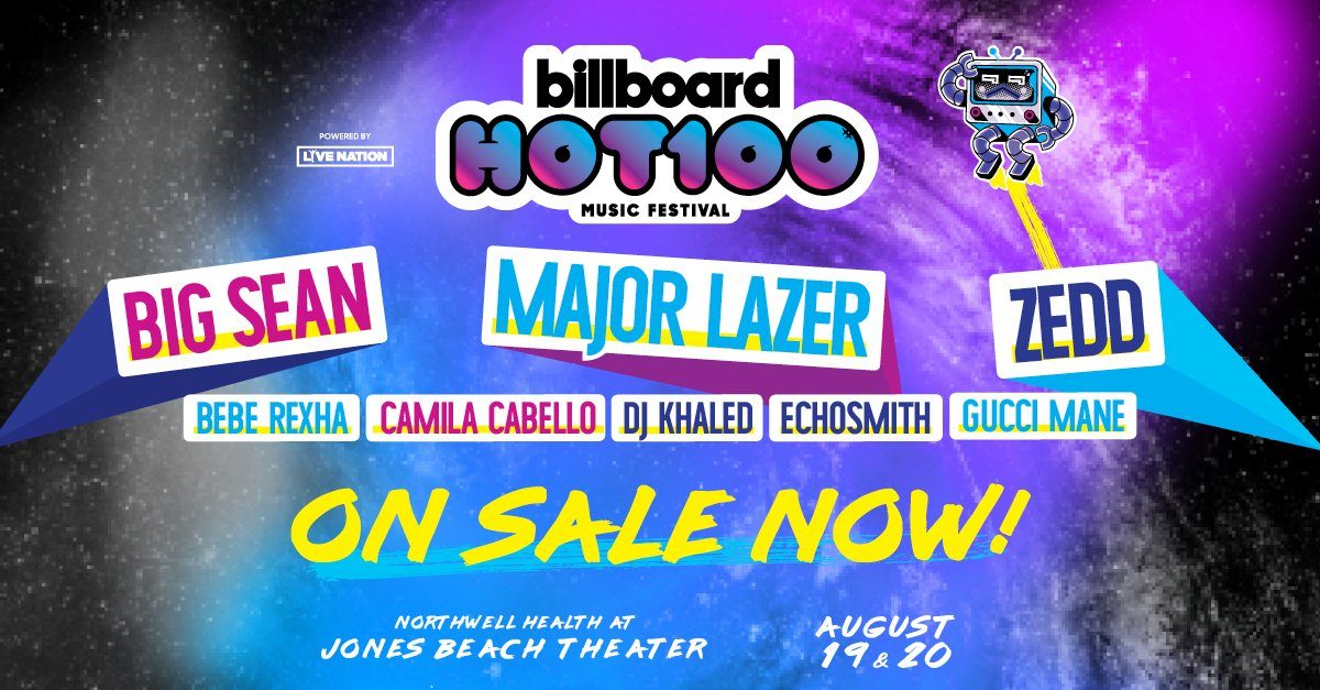 Cop 'Em: Tickets for the @Billboard @hot100fest are now on sale https:...