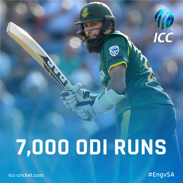 FASTEST to 7,000 ODI runs! Congratulations to Hashim Amla