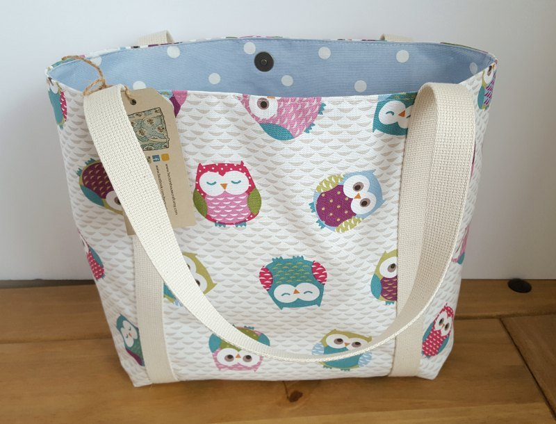 Owl lined canvas bag with pockets, Gift for new mom, Diaper bag, …  http:// tuppu.net/513328ee  &nbsp;   #Shareourshop #BabyShower <br>http://pic.twitter.com/qYOaK4YKoM