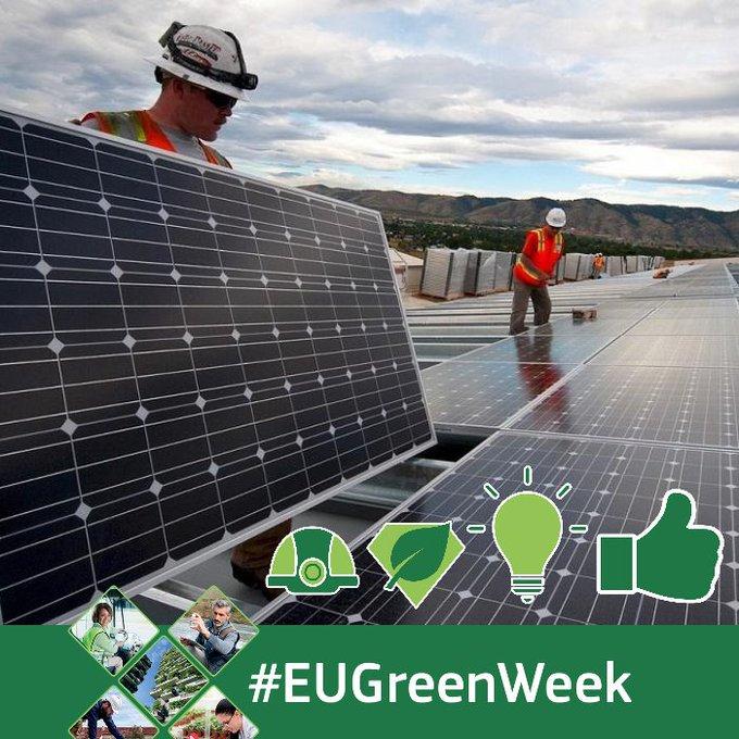 'Des emplois verts pour un avenir plus vert!' Lancement aujourd'hui de la Semaine verte de l'UE. + d'informations : https://t.co/PNCzp1gWA6