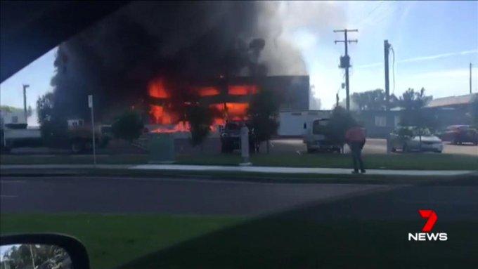 A welder may have sparked a blaze that engulfed a popular Sunshine Coast gymnastics centre. @SimoLove #7News
