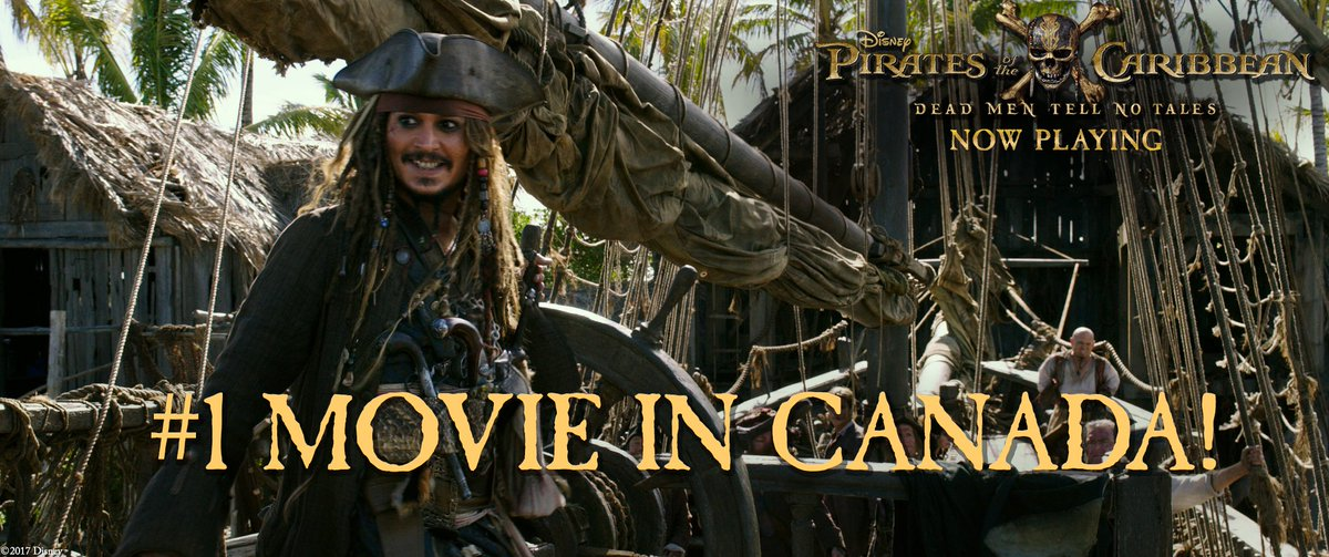 Thank you to all of the fans for living the #PiratesLife &amp; making #DeadMenTellNoTales the #1 movie in #Canada!<br>http://pic.twitter.com/EwBUbYptUc