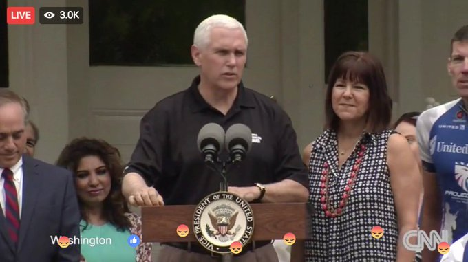 VP Pence is honoring #MemorialDay by hosting the kickoff event for the Project Hero Memorial Day Bike Race. Watch: https://t.co/b36PZHdIr0