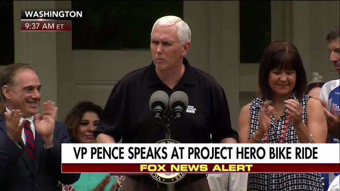 .@VP: 'We are incredibly honored to host Project hero back at the home of the Vice President of the United States on this Memorial Day.'