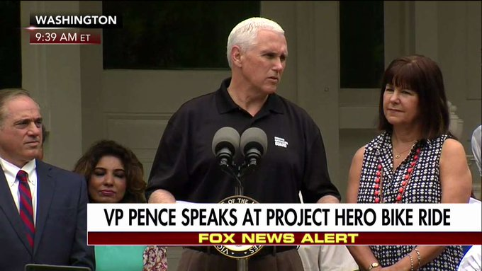 .@VP 'It is Memorial Day 2017 their duty was to serve, our duty is to remember.'