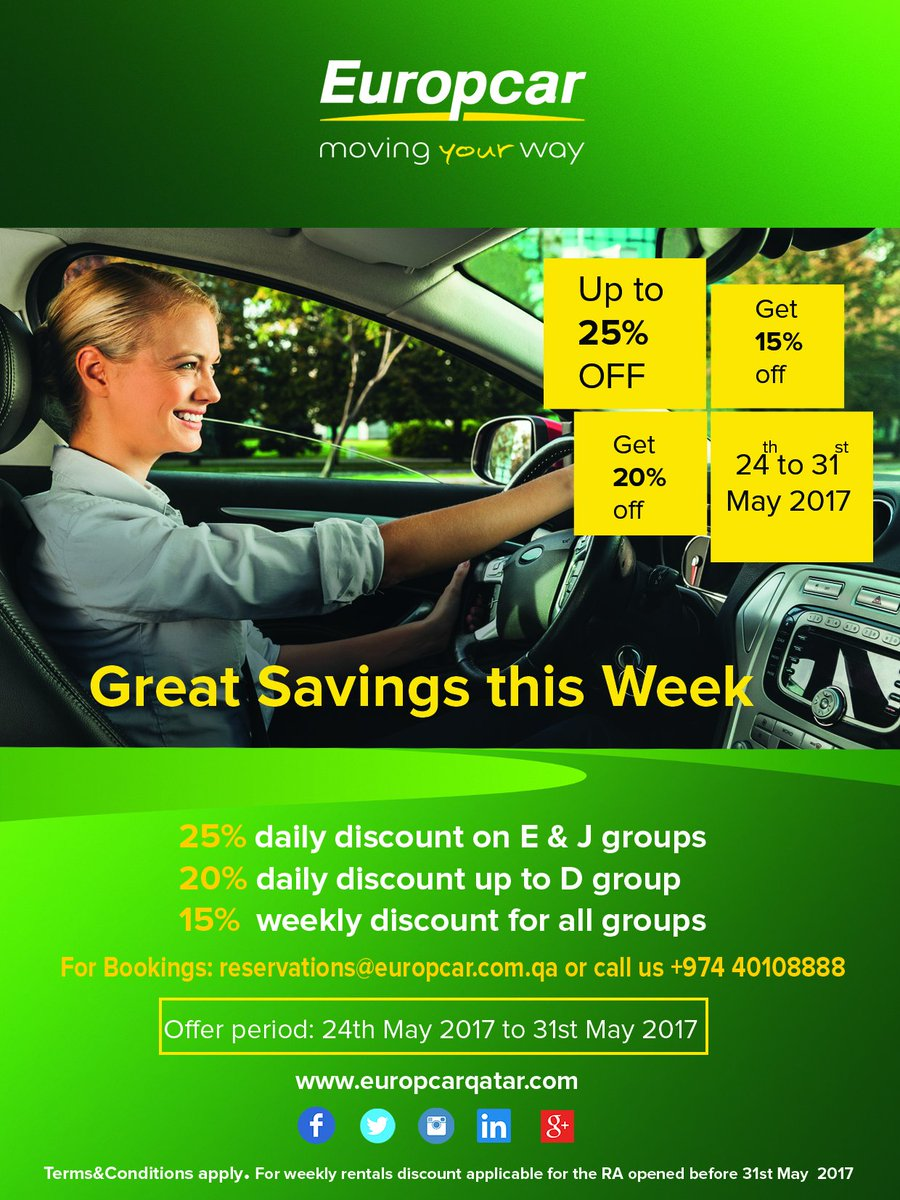 Europcar Qatar On Twitter Only 2 Days More Grab Exciting Weekly