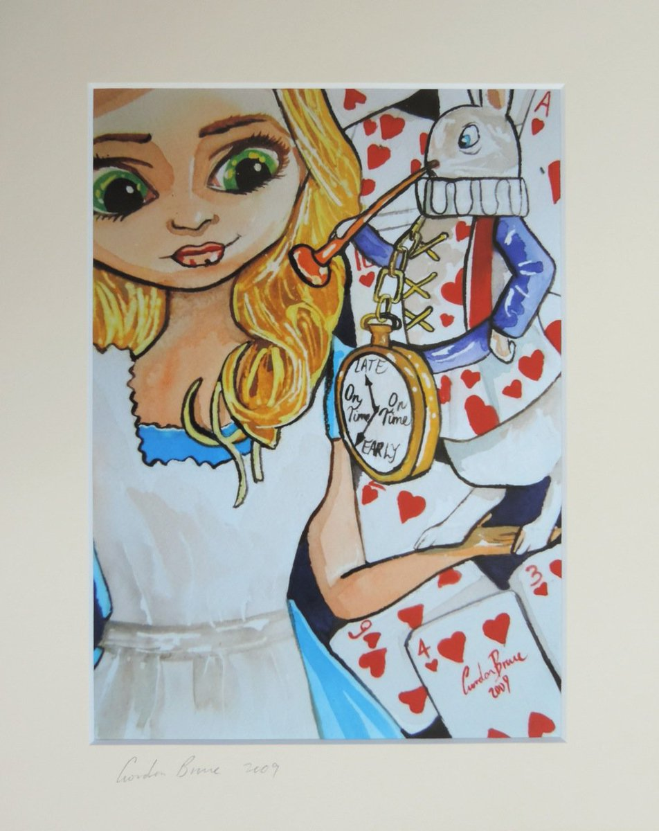 Alice and the white rabbit painting from 2009 #epiconetsy #followthewhiterabbit   https://www. etsy.com/uk/listing/481 184483/alice-in-wonderland-with-the-white?ref=listings_manager_grid &nbsp; … <br>http://pic.twitter.com/0NMqpynfvj