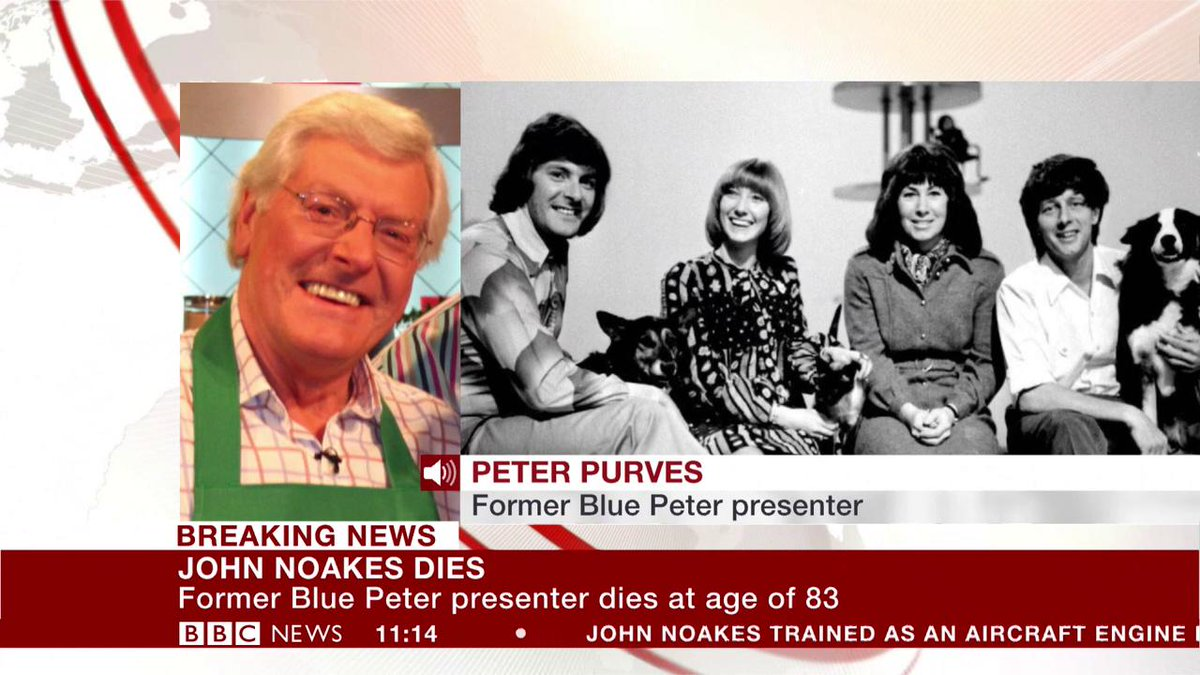 Former Blue Peter presenter Peter Purves pays tribute to John Noakes,...