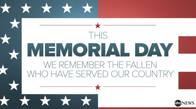 On this Memorial Day, @ABC News remembers the fallen who have served our country. https://t.co/O0pXTKDQ3y